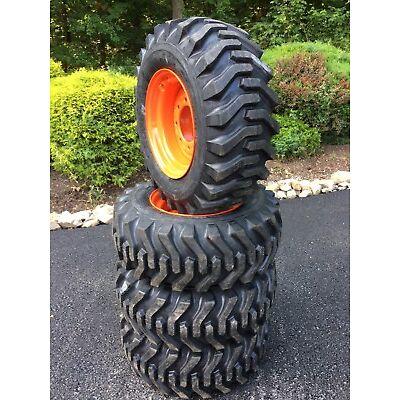 4 NEW CAMSO sks332 12X16.5 Skid Steer Tires & Wheels/Rims for Bobcat - 12-16.5
