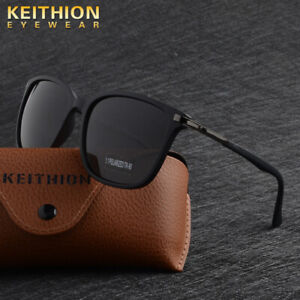 KEITHION-TR90-Polarized-Men-Women-Sunglasses-Square-Vintage-UV400-Driving-Glass