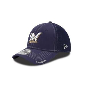 reputable site 2e691 2f41f Image is loading Milwaukee-Brewers-New-Era-39THIRTY-MLB-Neo-Stretch-