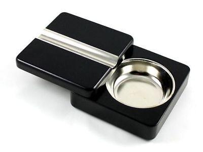 Black Swing Executive Wooden Cigar Twistable Ashtray Twist Shut Ashtray