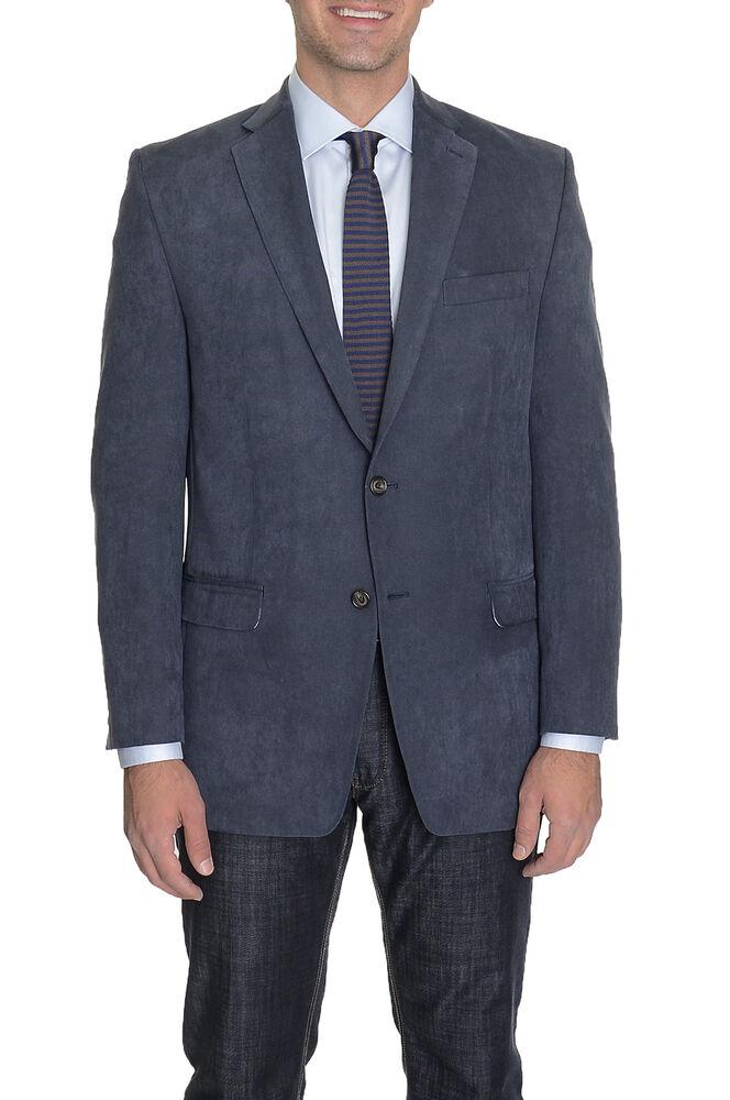 Agressif Hommes 44l Ralph Lauren Coupe Classique Bleu Marine Texturé Deux Bouton Blazer Doux Et Doux