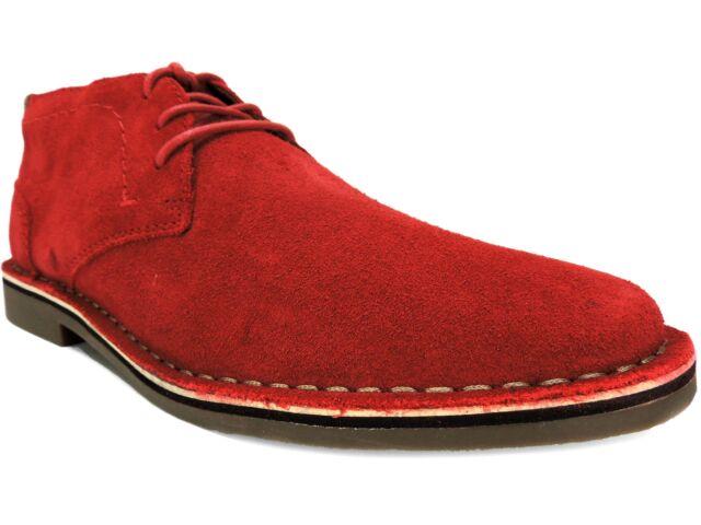 Desert Sun Suede Chukka Boots Red Size