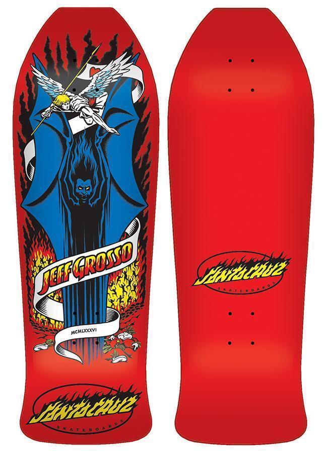 Santa Santa Santa Cruz Jeff Grosso Démon Planche Skateboard 25.4cm X 76.5cm Rouge Ancien 6933eb