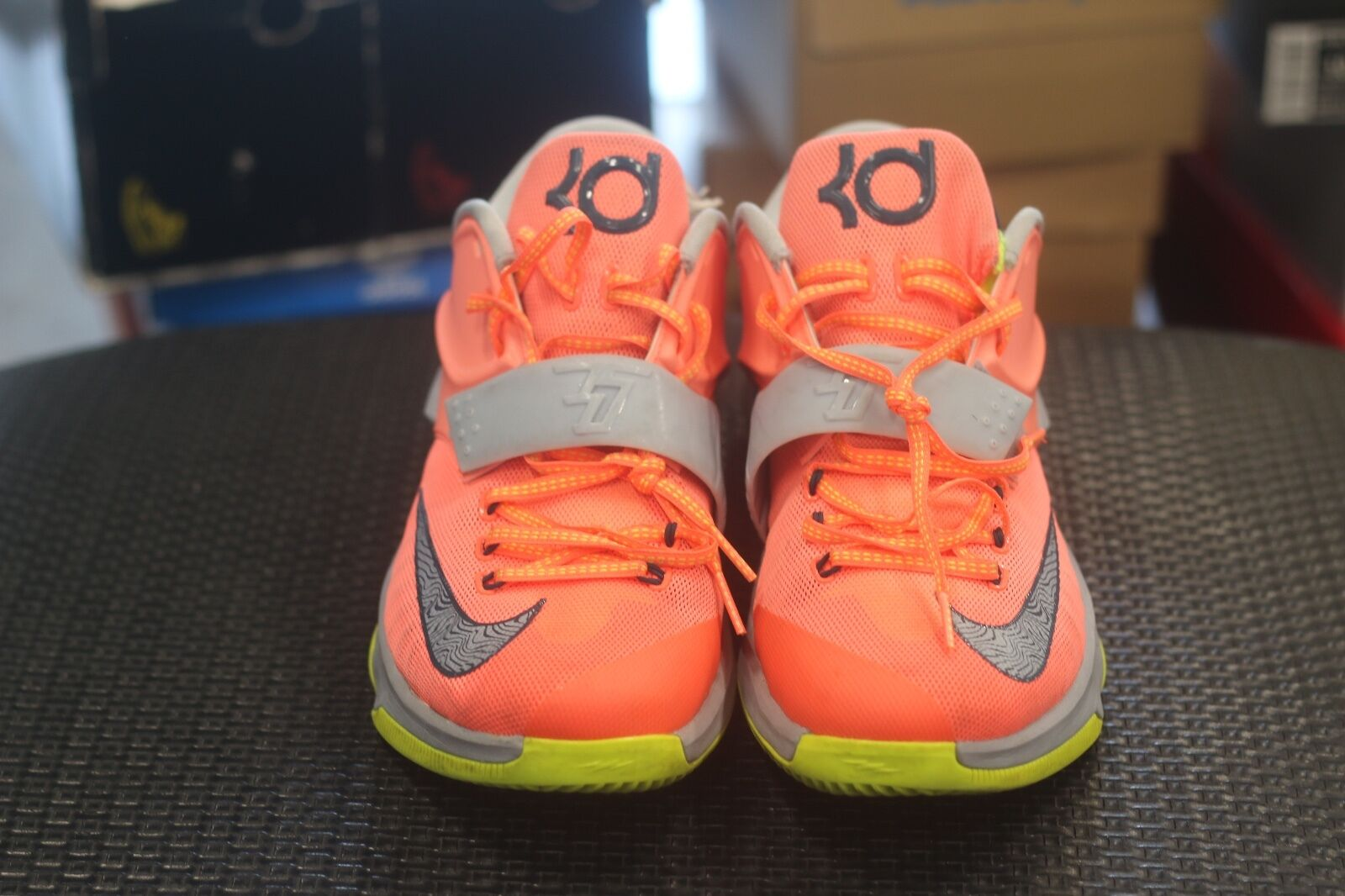 Nike 653996-840 KD VII Price reduction 35,000 Degrees Shoes Bright Mango Grey Men's Sz 10.5 Special limited time