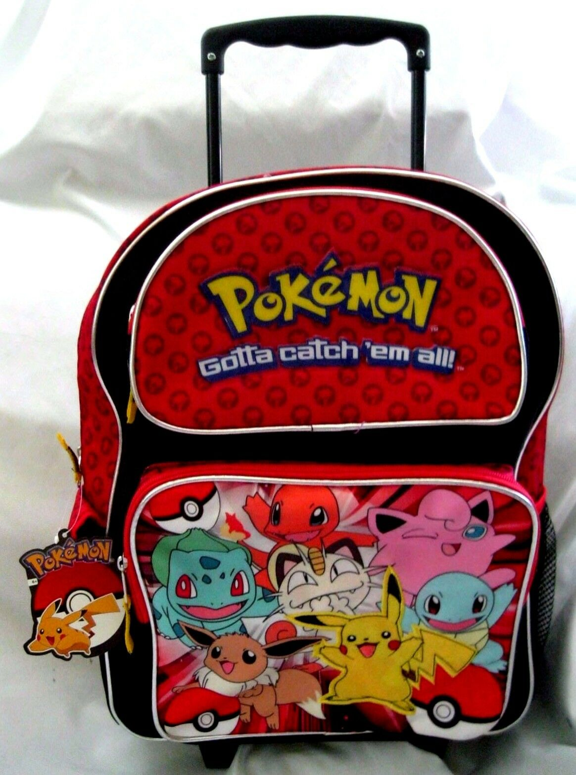 Pokemon Pikachu and Friends 16  Rolling rot Backpack with two compartments-New