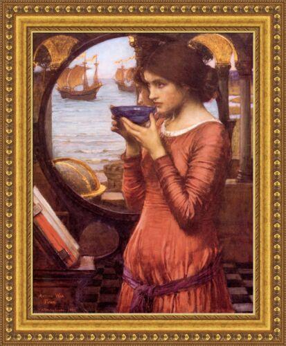"V04-04 John William Waterhouse Destiny Framed Canvas Giclee Print 27/""x33/"""