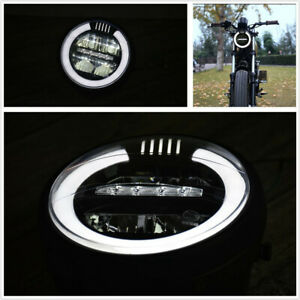 1-PC-6-8-034-Moto-Bicicleta-Blanco-LED-Hi-Lo-Beam-Metal-Retro-Faros-Faro