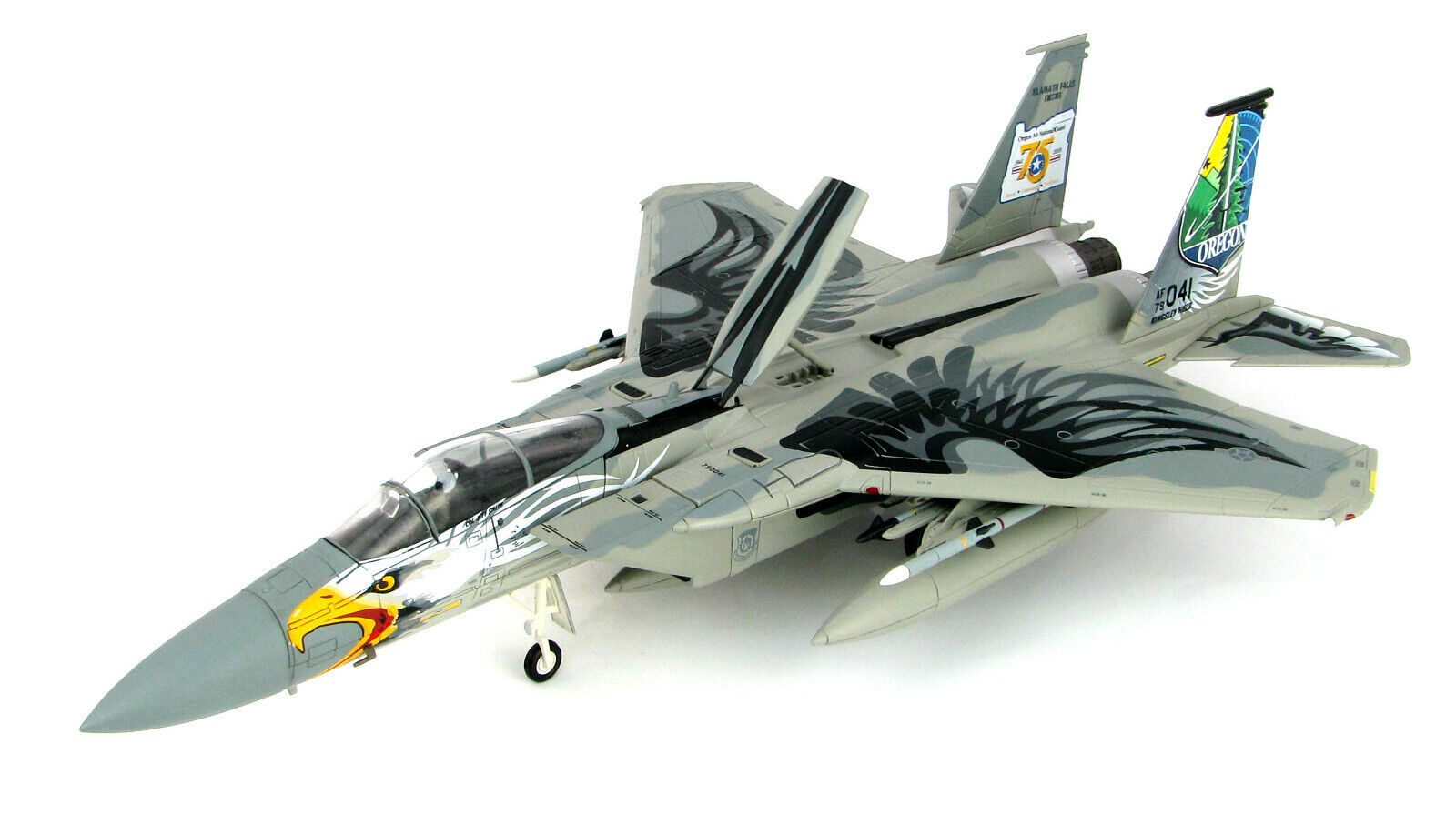 Hobby Master 1 72 USAF Boeing F-15C Eagle - Oregon ANG, 75th Anniversary, HA4559