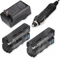 2 Battery+charger For Sony Gv-d800e Digital 8 Video Casette Recorder Vcr Walkman