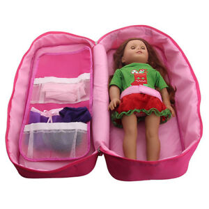 Doll-Travel-Carrier-Suitcase-Carry-Bag-Storage-Case-for-America-18inch-Girl-Doll