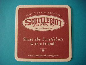 Bière Brewery Dessous De Verre ~ Scuttlebutt Brewing Co~ Everett, Washington Ktoikry4-07223217-118116574