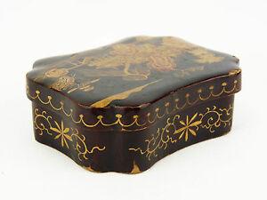 Kiste Antik Silber Lackiert Japan Japanese Lacquer Dose, Lpériode Meiji