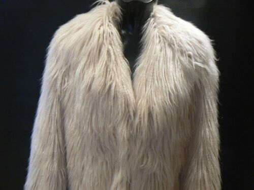 Shaggy nuovi River Island 8 Coat Uk Fur taglia Pale Pink Fuax 12 tag Jacket qxH7pwSxBX