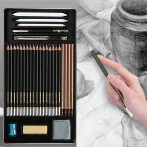 29-Piece-2018-Sketch-Draw-Pencil-Set-Sketching-kit-Graphite-Charcoal-Students