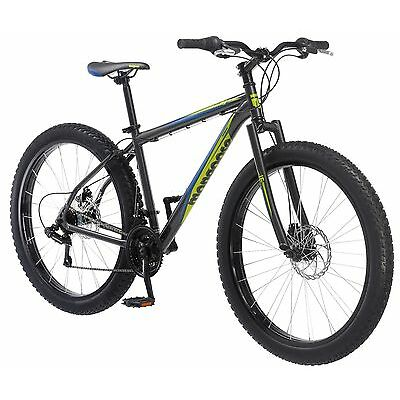 27.5 in Mongoose Alder Mountain Bike Plus Size Tire Disc Brake, Grey