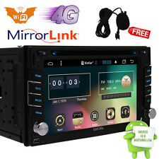 Android 6.0 Double 2DIN GPS Navi Car Stereo DVD Player BT Auto Radio 3G WiFi OBD