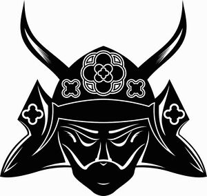 Samurai Mask Vinyl Sticker Decals