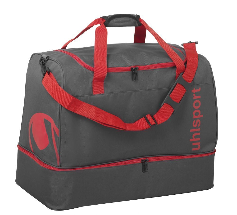 Uhlsport Fußball Essential 2.0 Spielertasche 50L Sporttasche grau rot  | Viele Stile