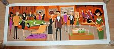 JoSH AGle SHAG Opening Gala Palm Springs Serigraph Pop Art Print Poster S/# 200