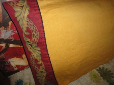 CROSCILL IMPERIAL EMPRESS RED BLACK GOLD LEAF (1) KING PILLOWCASE 19 X 38
