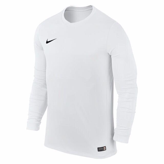 Mens Kids Nike Park VI Long Sleeve Jersey Dri Fit Football Shirts ... 1adc2eb1d