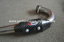 PRO CARBON Fibre Heat Shield Exhaust Guard to fit FMF POWERBOMB Header Pipe