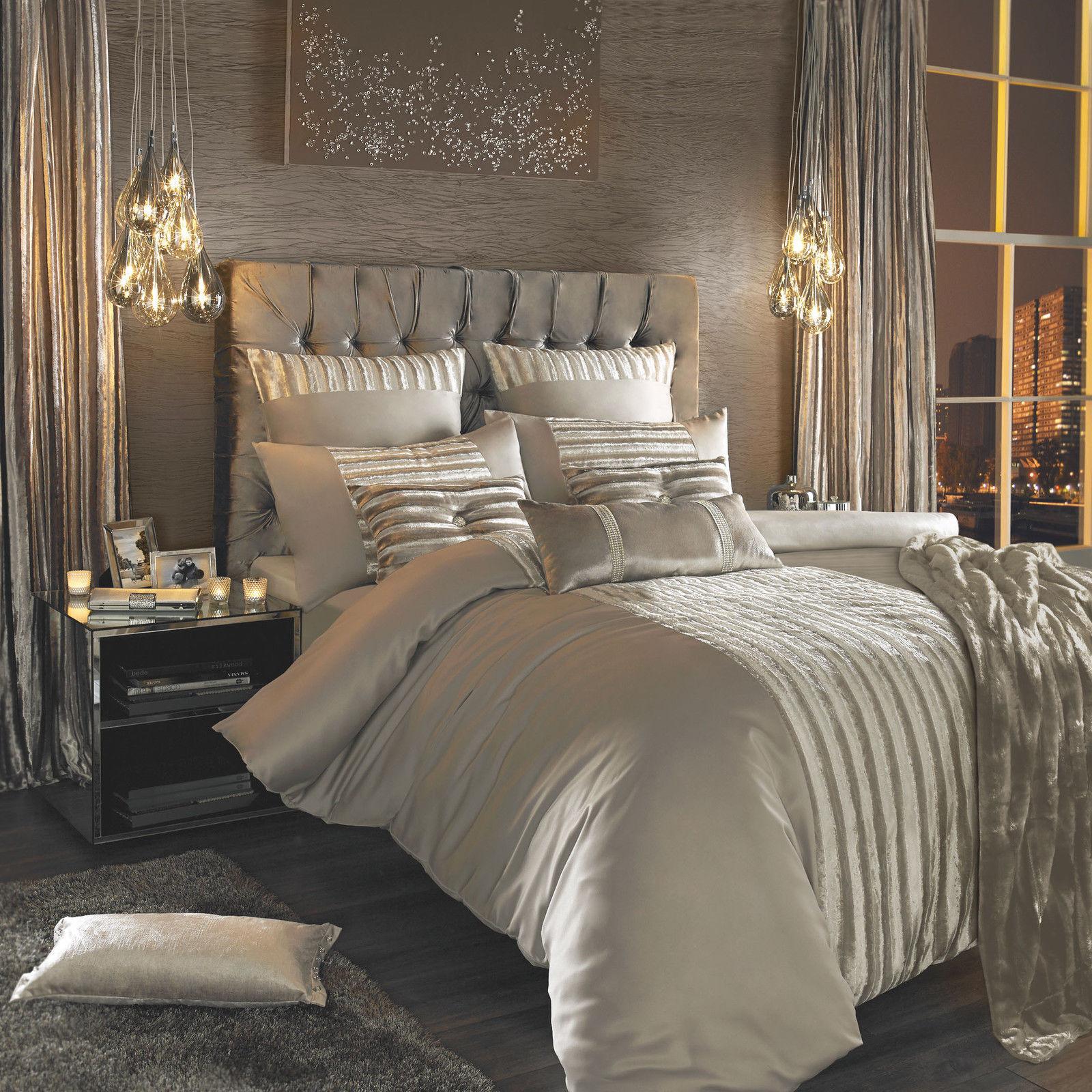 Celebrity Designer Kylie Minogue LUCETTE PRALINE Bed Linen Bedding