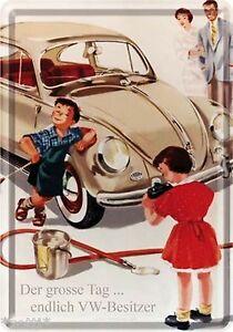 Nostalgic-Art-Carte-Postale-en-Tole-Metal-VW-le-Grand-Tag-pour-Volkswagen