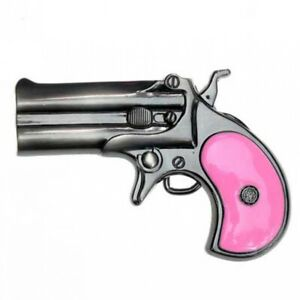 Buckle-Derringer-Pistole-Taschenpistole-Halbmodell-Guertelschnalle