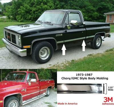 Autmotive Authority 1973-1987 Chevy GMC Chrome Side Body Trim Molding C10 C20...