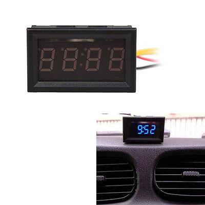 """4.5-30V LED Dashboard Clocks for Car Blue LED Panel Display Digital Clock 0.56"""""""