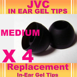4-x-JVC-In-Ear-Bud-Head-Phones-Gel-Tip-Covers-Medium