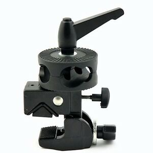 Details about Cowboystudio Light Stand Support Studio Super Clamp Dual Head  Clamps
