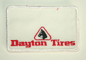 Details about 2 Vintage Dayton Tire & Rubber Company Service Name Tag Cloth  Patch New NOS 70s