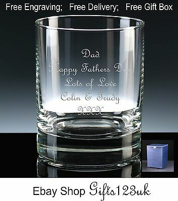 Fathers Personalised 10oz Whisky Glass Mothers Day Gift