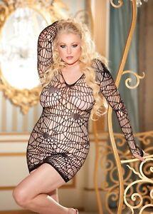 Sexy-Black-Spider-Web-Long-Sleeve-Dress-Chemise-Plus-Size-Shirley-X90290