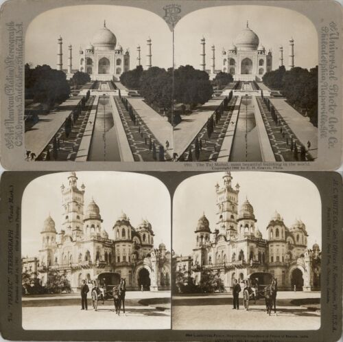 18 STEREOVIEWS INDIA INDIEN DELHI CALCUTTA 1900 Series 3