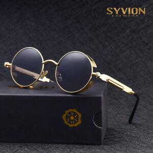 4514d87d5 A imagem está carregando oculos-De-Sol-Polarizado-Steampunk-Vintage-Moda- oculos-