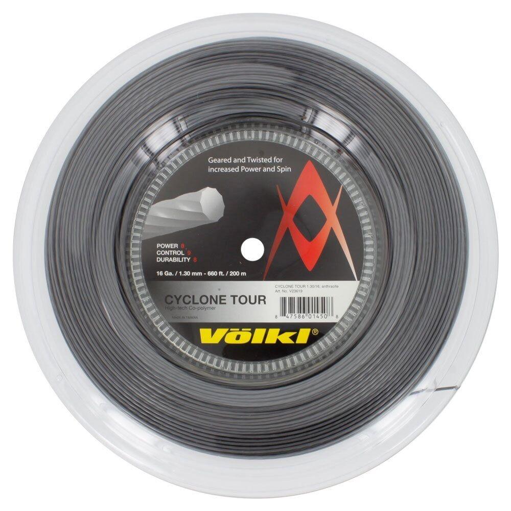 Volkl CYCLONE TOUR TENNIS Stringa 200 M Reel-rosso o nero, 16 G, 17 G, 18 G disponibile