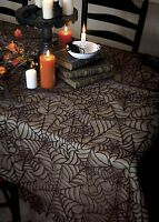 Hw-6090b Usa Lace Halloween Black Spider Web 60x90 Rectangle Table Cloth Topper