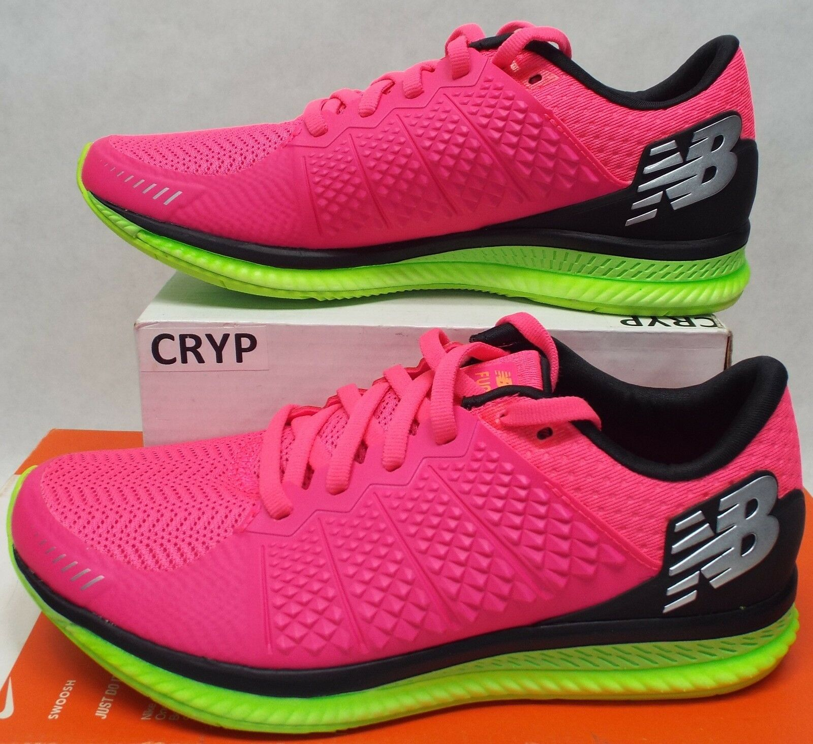 New New New Womens 6 New Balance Pink Lime Fuel Cell shoes  110 WFLCLLP 6534b9