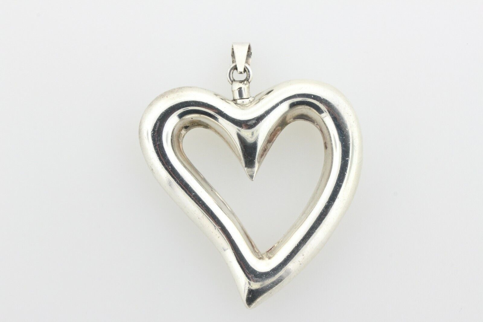 Vintage Sterling Silver Heart Screw Top Poison Pe… - image 4