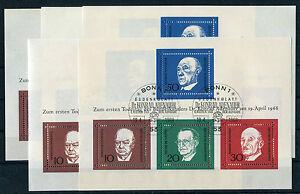 Bund-Block-4-gestempelt-5-Stueck-ETSST-Bonn-BRD-554-557-Adenauer-used