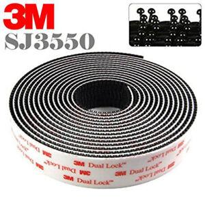 Dual Lock Sj 3550 3M™ Autocollant De 25mm IN Vente Au Mètre Noir Telepass Noir