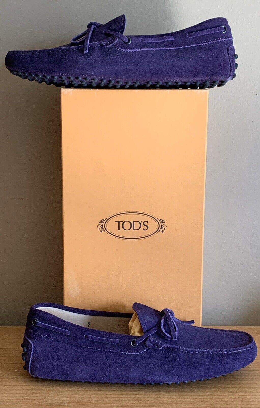 Auténtico Gamuza Mocasines para Conducir Tod'S GOMMINO, Púrpura, Talla 7 EE. UU. 40 EUR