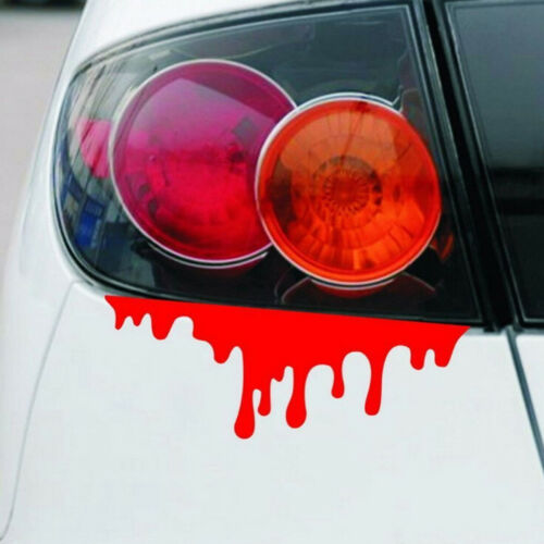 1PC car stickers red blood DIY vehicle body badge car styling stickers decalCYC