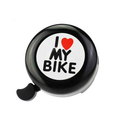 Vintage Bicycle Bell Ring I Love My Bike Printed Bike Bell Alarm Accessories