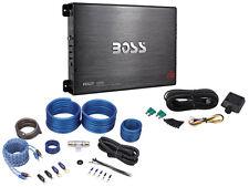 Boss Audio Armor R2000M 2000 Watt Mono Block Car Stereo Amplifier + Amp Kit