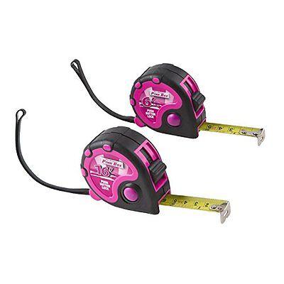 Girl Power The Original Pink Box Pb2tape 2-Piece Tape Measure Set Tool Ladies Ne