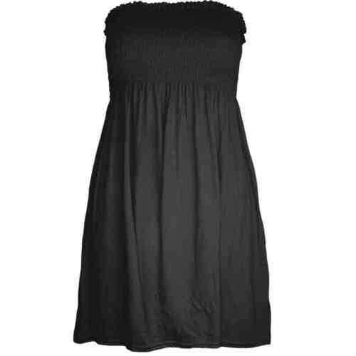 Femme femme plaine boobtube bandeau d/'été bustier courte partage robe top